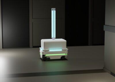 Viktor Čistič UVC dezinfekční robot robot